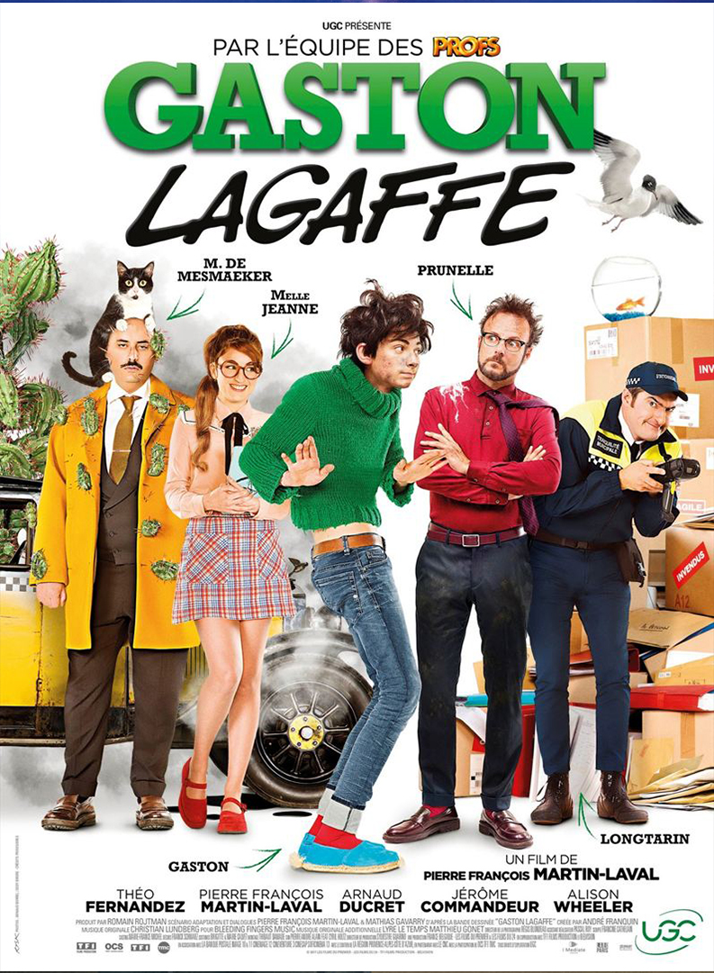 "affiche du film ""Gaston Lagaffe"""